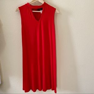 Velucci Red Choker Dress in Small